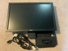 "Tested Acer V203W 20""  Widescreen LCD Flat Panel Monitor DVI-D Black EUC"