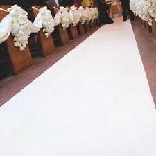 16Ftx3.3Ft White Wedding Aisle Runner Marriage Ceremony Carpet Roll Party Decor