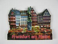 Frankfurt Römer Germany,2D Holz Magnet,Souvenir Deutschland