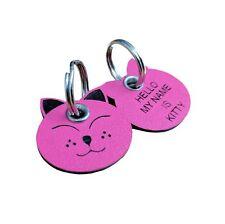 Pet Tags Plastic Shaped Cat Tag 25mm x 25mm