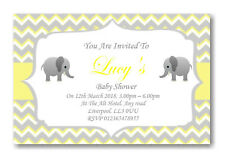 20 Personalised Baby Shower Invitations / Invites With Envelopes Posted 1stclass
