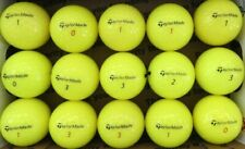 New listing 15 TAYLOR MADE DISTANCE yellow used golf balls, AAAA, FREE SHIP
