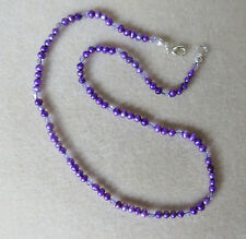 Dainty handmade purple freshwater pearl and swarovski crystal necklace N747