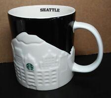 Starbucks mug Seattle 2012 Collector Series embossed relief coffee cup skyline