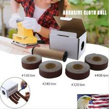 Abrasive Sandpaper Emery Cloth Roll 150/240/320/400 Grit Dry Polishing Tools USA