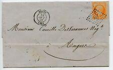 LETTRE ANCIENNE // ENVELOPPE // BREST POUR ANGERS 1857