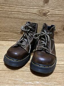 DR. MARTENS 8287 Brown AW004-PC04B Made in England : Size uk4 Women US6 Chunky