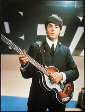 THE BEATLES POSTER PAGE . 1964 PAUL MCCARTNEY & HOFNER VIOLIN BASS GUITAR . 17D