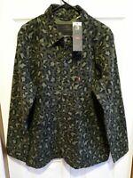 $128 New Levis Engineer Cotton Jacket Cheetah Leopard Camo Green Size XL