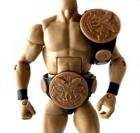 WWE World Tag Team Championship Title Belts Set Elite Figure Accessory Dull