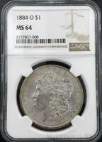 1884-O Morgan Dollar $1 Dollar NGC Graded MS64 Silver Coin (CO-HX-4727827-008)