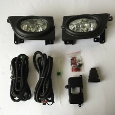 For 2006-2008 Honda Civic Sedan 4Dr Clear Fog Lights w/Bezel Switch Wiring Bulbs
