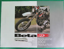 BETA MOTO 2004 CATALOGO  DEPLIANT BROCHURE RECLAME PROSPEKT