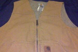 Vintage CARHARTT Fleece Lined Vest   M   Workwear Teddy Sherpa Gilet USA
