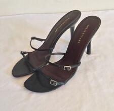 COLIN STUART Black Leather Upper Strappy High Heels Size 7 1/2