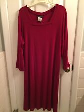 New WITH TAGS  Citiknits Dress Womens SIZE LG Burgundy  QVC