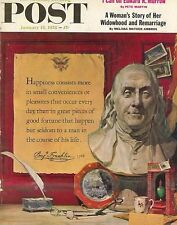 The Saturday Evening Post January 18 1958 Benjamin Franklin Vintage Americana