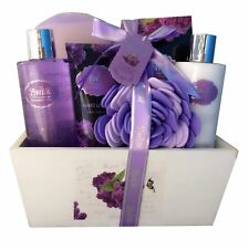 Spa Gift Basket, Spa Basket with Lavender Fragrance, Lilac color by Lovestee .
