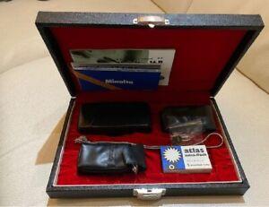 Minolta 16mm MG Subminature Fotocamera - Case, Flash, Filtro