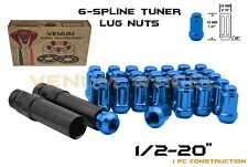 "Blue Spline Lug Nut Kit 1/2-20"" Fits Jeep Wrangler JK Liberty Grand Cherokee"