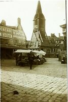 Francia Normandie Honfleur Chiesa c1900, Foto Stereo Vintage Placca Lente VR7L5