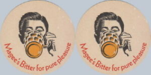 Magee Marshall Brewery Bolton 1967 No.23 Beermat Coaster Bierdeckel Sousbock