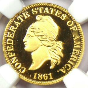 2011 Smithsonian Gold Restrike of 1861 CSA Confederate Cent 1C - NGC Proof