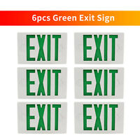 6 Packs Green Universal LED EXIT Sign Emergency Light Night Indoor Indicator