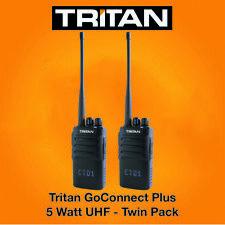 TRITAN Goconnect-Plus Uhf 5 Watt Talkie-Walkie Radios & Forme Écouteurs X 2