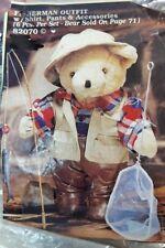 "Tender Heart Treasures Weekend Fisherman 6pc 12"" Bear Outfit & Acc #82070 New"