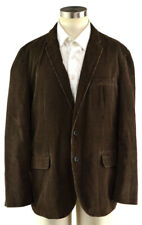 J CREW Men's Brown Cotton Corduroy Sport Coat Jacket Blazer ~ Sz XL
