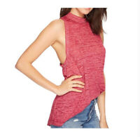 Free People Womens Brisbane Top Relaxed Pink Size XS