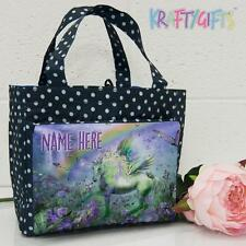 Personalised Unicorn Girls Ladies Polka Dot Spotty Insulated Lunch Bag ST842