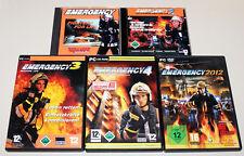 5 PC SPIELE SAMMLUNG EMERGENCY - FIGHTERS FOR LIFE - 1 2 3 4 2012 - FEUERWEHR