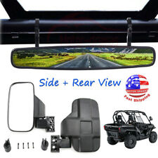 1.75� Side & Rear View Mirrors Set For Polaris Ranger Rzr 800 900 1000 S 900 Utv