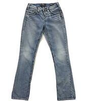 Silver Jeans Suki Classic Stretch Womens 26x31 Slim Mid Rise Blue Denim