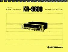 Kenwood KR-9600 Receiver OWNER'S MANUAL and SERVICE MANUAL