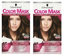 2x Schwarzkopf Color Mask Permanent Colour 550 Golden Brown