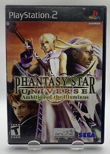 Phantasy Star Universe Ambition Illuminus Playstation PS2 Black Label No Manual
