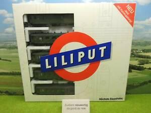 Liliput 847 H0 Personenwagen Set 5 tlg. DR mit OVP neuwertig (YX) G0536