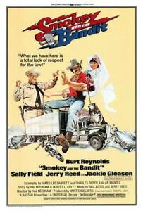 Smokey and the Bandit Movie POSTER 27 x 40 Burt Reynolds, Sally Field, A
