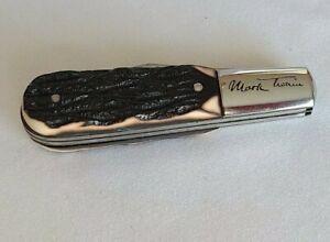 IMPERIAL KNIFE MARK TWAIN BARLOW FOLDING POCKET KNIFE MADE IN USA 1956-88