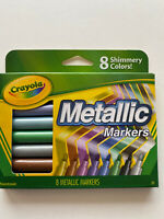 Crayola Metallic Markers Assorted Pack of 8 Shimmery Colors