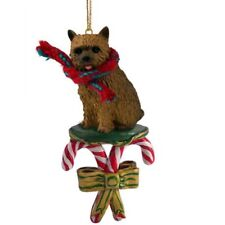 Norwich Terrier Dog Candy Cane Christmas Tree Ornament