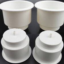 (4PCS)Nice White Boat Plastic Cup Drink Holder For Boat Marine RV Universal