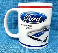 Ford Coffee Cup - Blue & White 1972 Mustang Sprint - Coffee Mug         FCC002