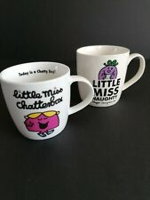 Little Miss Coffee Mug Set Naughty Chatterbox Hargreaves Cartoon