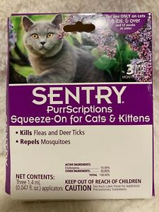Genuine Sentry Purrscriptions Squeeze-on For Cats & Kittens (New damaged box)