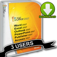 Microsoft Office 2007 inc Word Outlook Excel for Office, Home, Student, Business