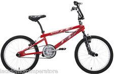 BICICLETTA 20 BMX SCORPION SCHIANO BICI FREESTYLE COLORE ROSSO, NERO E ARGENTO